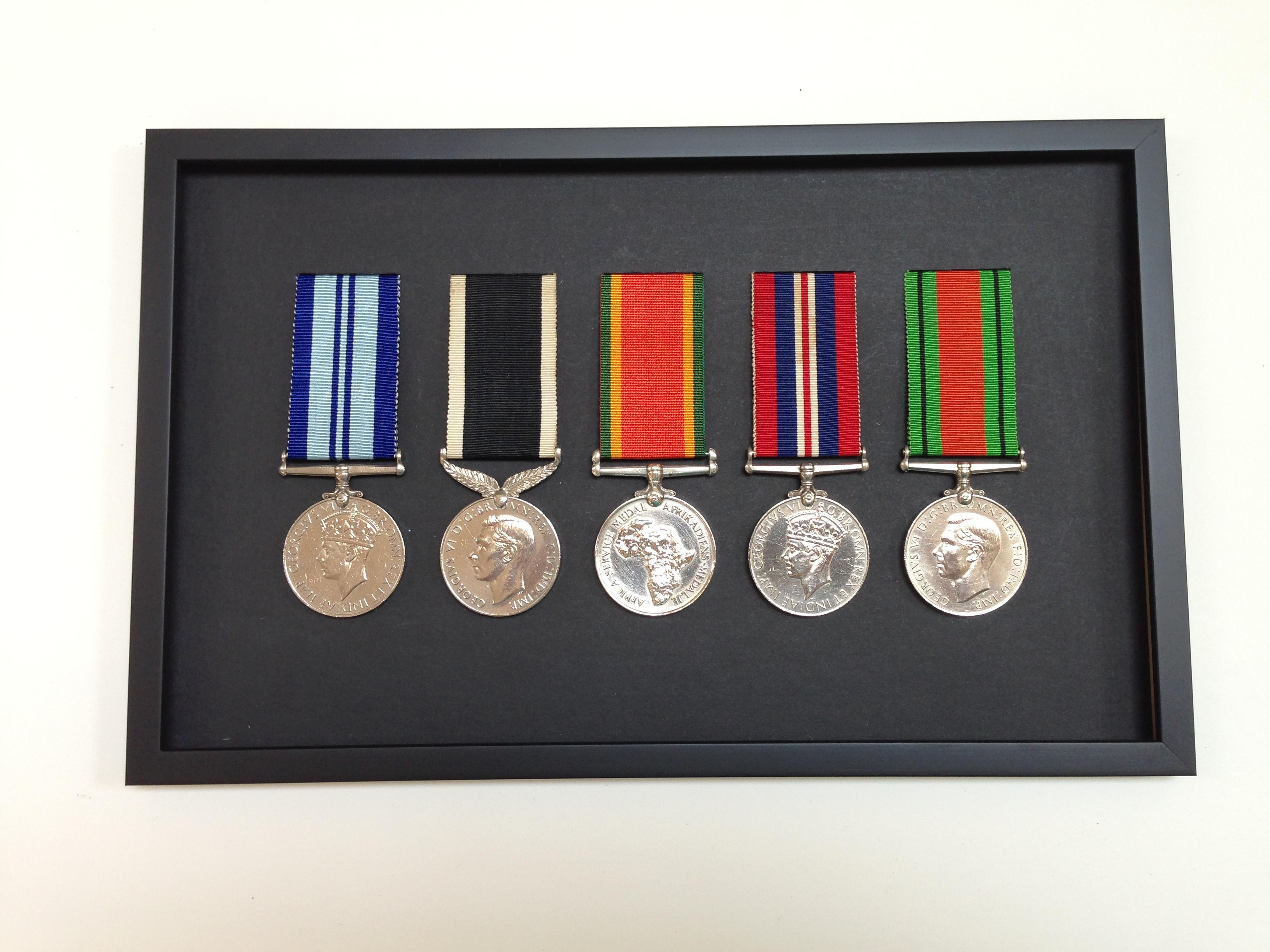 Medals row of 5