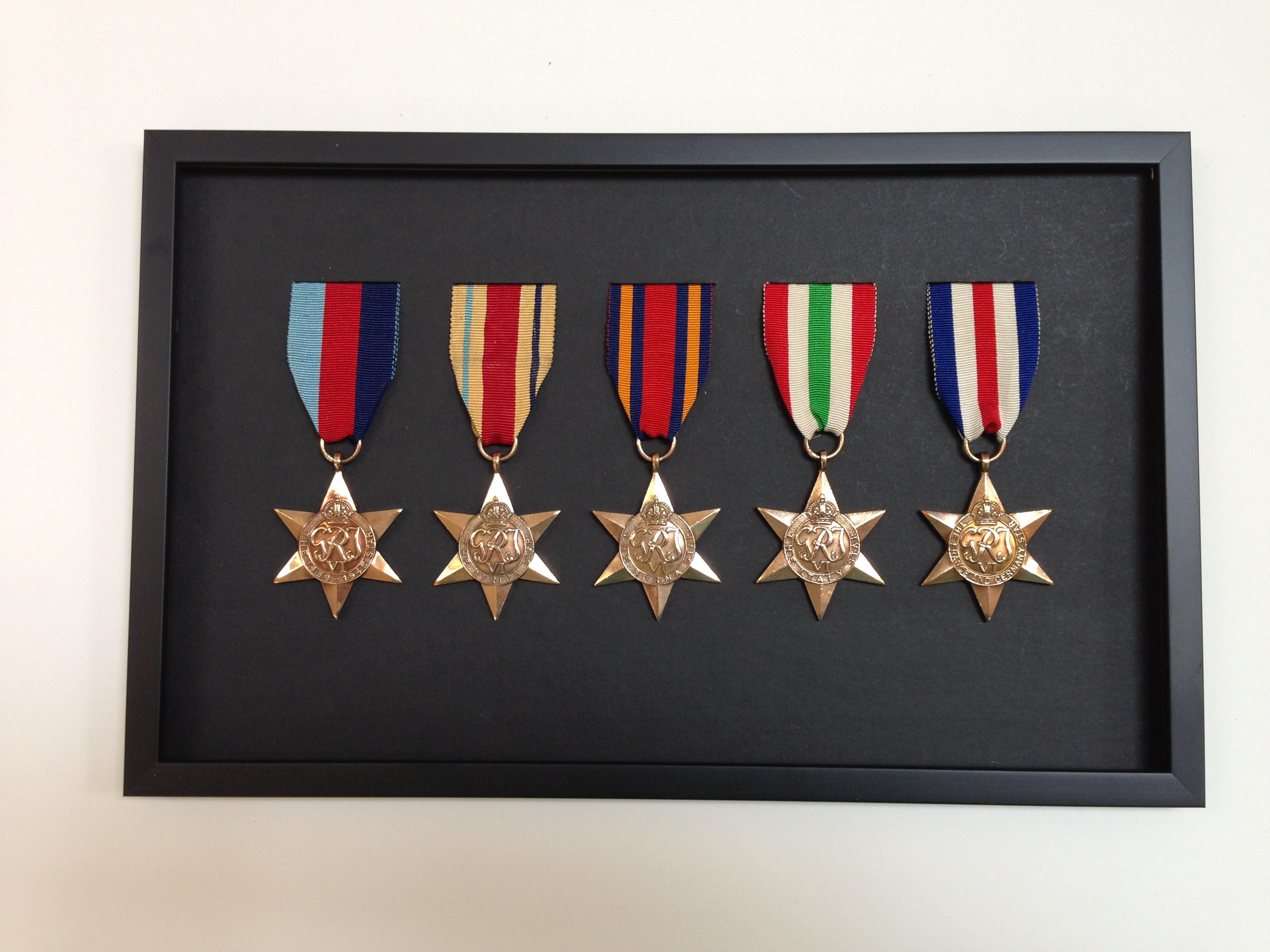 Medals row of 5 stars