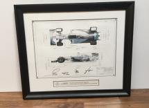 Formula 1 2016 signed by Lewis Hamilton, Nico Rosberg, Paddy Lowe & Toto Wolf