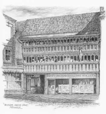 Ye Old White Hart Newark b/w