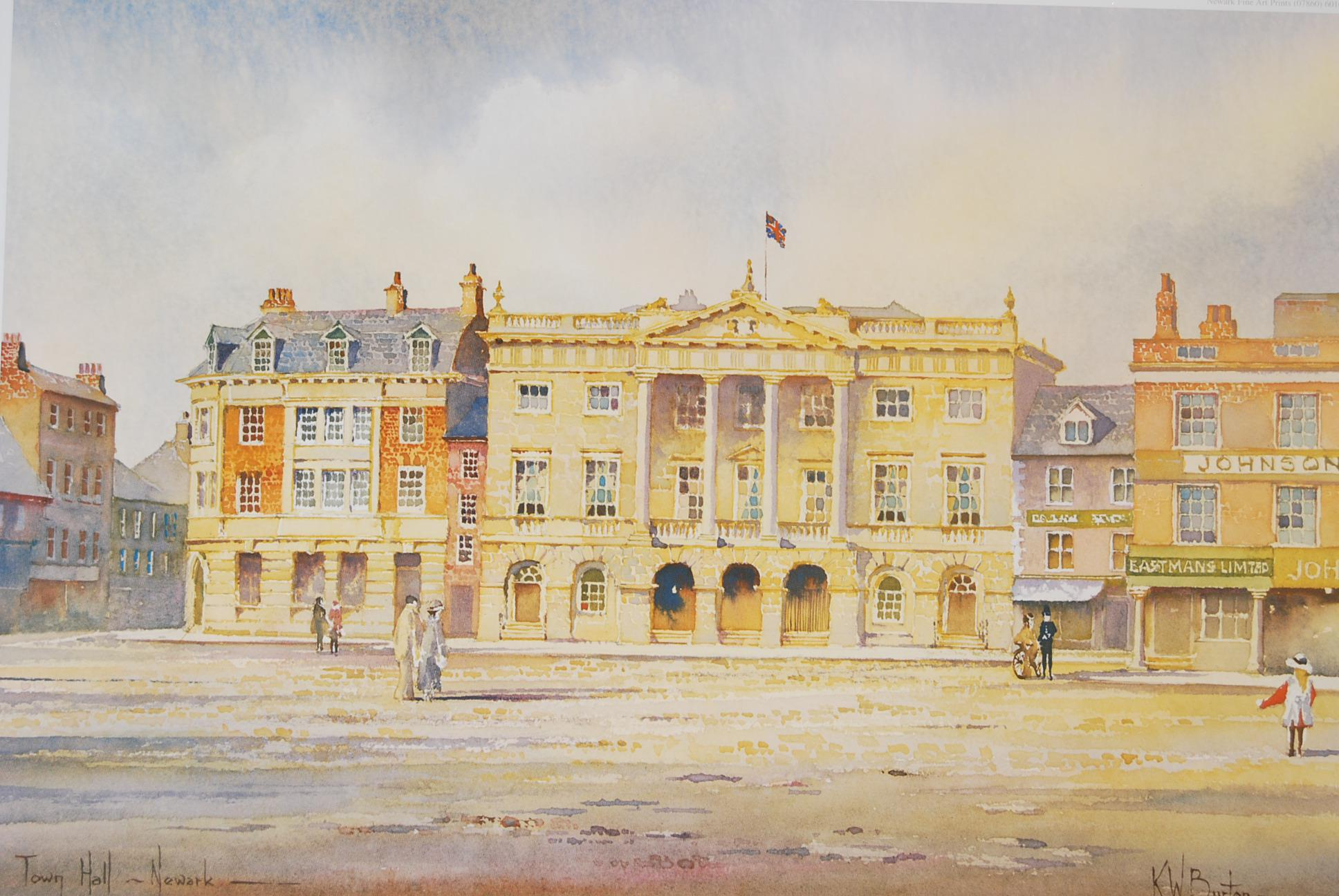 Town Hall Newark by KW Burton