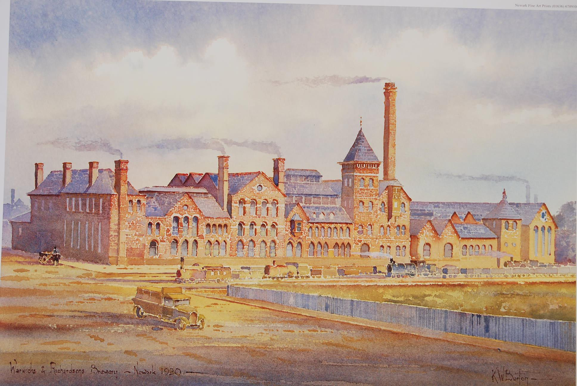 Warwick and Richardson Brewery Newark by KW Burton