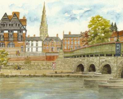 Newark from the River Trent by Ron Hill