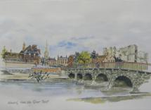 Newark from the River Trent by Penny Veys